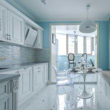 Белый кухонный гарнитур: особенности выбора, сочетания, 70 фото в интерьере - 45