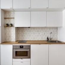 Белый кухонный гарнитур: особенности выбора, сочетания, 70 фото в интерьере - 64