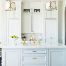 Белый кухонный гарнитур: особенности выбора, сочетания, 70 фото в интерьере - 47