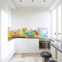 Белый кухонный гарнитур: особенности выбора, сочетания, 70 фото в интерьере - 58