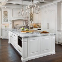 Белый кухонный гарнитур: особенности выбора, сочетания, 70 фото в интерьере - 46