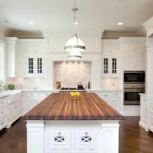 Белый кухонный гарнитур: особенности выбора, сочетания, 70 фото в интерьере - 69