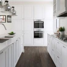 Белый кухонный гарнитур: особенности выбора, сочетания, 70 фото в интерьере - 54