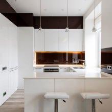 Белый кухонный гарнитур: особенности выбора, сочетания, 70 фото в интерьере - 52