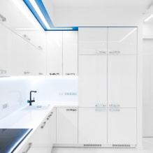 Белый кухонный гарнитур: особенности выбора, сочетания, 70 фото в интерьере - 63