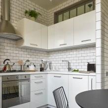 Белый кухонный гарнитур: особенности выбора, сочетания, 70 фото в интерьере - 59