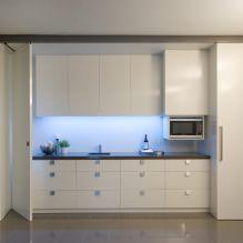 Белый кухонный гарнитур: особенности выбора, сочетания, 70 фото в интерьере - 44