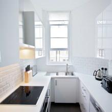 Белый кухонный гарнитур: особенности выбора, сочетания, 70 фото в интерьере - 62