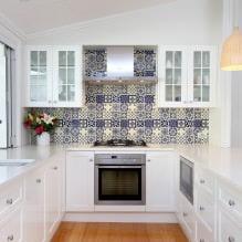 Белый кухонный гарнитур: особенности выбора, сочетания, 70 фото в интерьере - 48