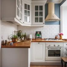 Белый кухонный гарнитур: особенности выбора, сочетания, 70 фото в интерьере - 50