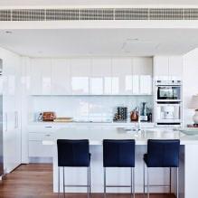 Белый кухонный гарнитур: особенности выбора, сочетания, 70 фото в интерьере - 53