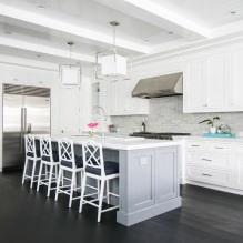 Белый кухонный гарнитур: особенности выбора, сочетания, 70 фото в интерьере - 56