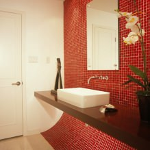 Красный цвет в интерьере: значение, сочетание, стили, отделка, мебель (80 фото)-11