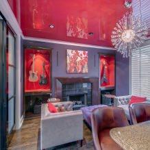 Красный цвет в интерьере: значение, сочетание, стили, отделка, мебель (80 фото)-6