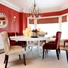 Красный цвет в интерьере: значение, сочетание, стили, отделка, мебель (80 фото)-0