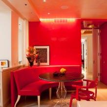 Красный цвет в интерьере: значение, сочетание, стили, отделка, мебель (80 фото)-4