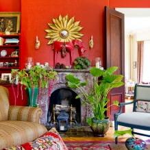 Красный цвет в интерьере: значение, сочетание, стили, отделка, мебель (80 фото)-3