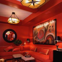 Красный цвет в интерьере: значение, сочетание, стили, отделка, мебель (80 фото)-9