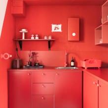 Красный цвет в интерьере: значение, сочетание, стили, отделка, мебель (80 фото)-13