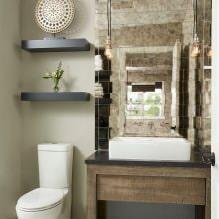 Интерьер туалета маленького размера: особенности, дизайн, цвет, стиль, 100+ фото-7