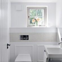 Интерьер туалета маленького размера: особенности, дизайн, цвет, стиль, 100+ фото-18