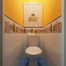 Интерьер туалета маленького размера: особенности, дизайн, цвет, стиль, 100+ фото-17