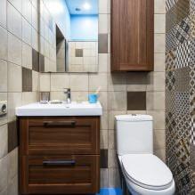 Интерьер туалета маленького размера: особенности, дизайн, цвет, стиль, 100+ фото-15