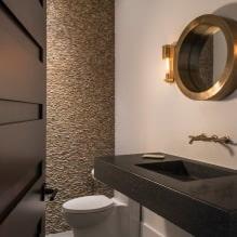 Интерьер туалета маленького размера: особенности, дизайн, цвет, стиль, 100+ фото-13