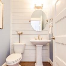 Интерьер туалета маленького размера: особенности, дизайн, цвет, стиль, 100+ фото-12