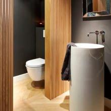 Интерьер туалета маленького размера: особенности, дизайн, цвет, стиль, 100+ фото-22
