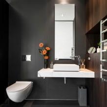 Интерьер туалета маленького размера: особенности, дизайн, цвет, стиль, 100+ фото-5