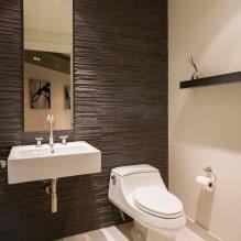 Интерьер туалета маленького размера: особенности, дизайн, цвет, стиль, 100+ фото-14