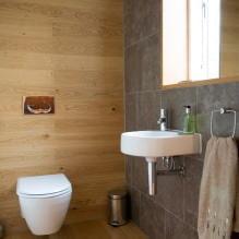 Интерьер туалета маленького размера: особенности, дизайн, цвет, стиль, 100+ фото-9
