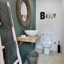 Интерьер туалета маленького размера: особенности, дизайн, цвет, стиль, 100+ фото-8