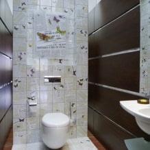 Интерьер туалета маленького размера: особенности, дизайн, цвет, стиль, 100+ фото-10