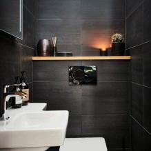 Интерьер туалета маленького размера: особенности, дизайн, цвет, стиль, 100+ фото-16