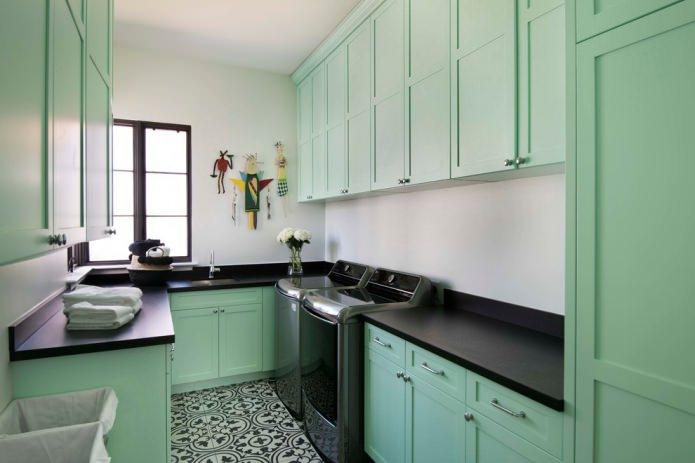 Интерьер в мятных тонах: сочетания, выбор стиля, отделки и мебели (65 фото)