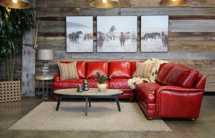 Диван красного цвета в интерьере: виды, дизайн, сочетание с обоями и шторами