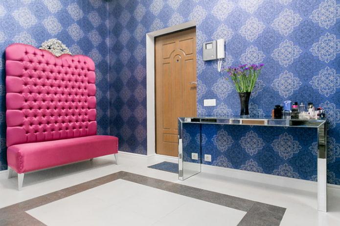 Синие обои: сочетания, дизайн, выбор штор, стиля и мебели, 80 фото в интерьере