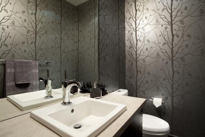 Как выбрать обои для туалета: 60 современных фото и идей дизайна