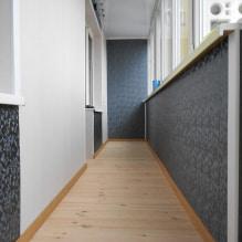 Обои на балконе или лоджии: какие можно клеить, выбор цвета, идеи дизайна, фото в интерьере-1