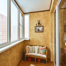 Обои на балконе или лоджии: какие можно клеить, выбор цвета, идеи дизайна, фото в интерьере-2