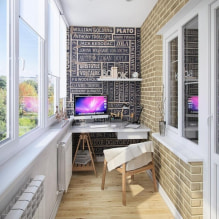 Обои на балконе или лоджии: какие можно клеить, выбор цвета, идеи дизайна, фото в интерьере-4