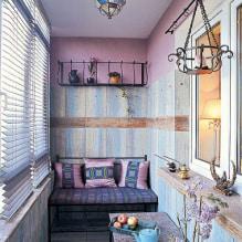 Обои на балконе или лоджии: какие можно клеить, выбор цвета, идеи дизайна, фото в интерьере-5
