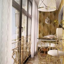 Обои на балконе или лоджии: какие можно клеить, выбор цвета, идеи дизайна, фото в интерьере-7