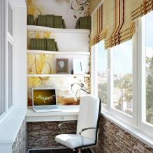 Обои на балконе или лоджии: какие можно клеить, выбор цвета, идеи дизайна, фото в интерьере-8