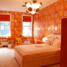 Обои оранжевого цвета: виды, дизайн и рисунки, оттенки, сочетания, фото в интерьере-0