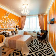 Обои оранжевого цвета: виды, дизайн и рисунки, оттенки, сочетания, фото в интерьере-2