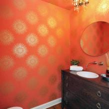 Обои оранжевого цвета: виды, дизайн и рисунки, оттенки, сочетания, фото в интерьере-3
