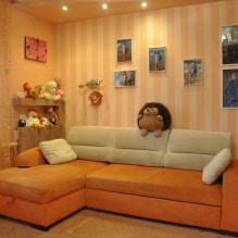 Обои оранжевого цвета: виды, дизайн и рисунки, оттенки, сочетания, фото в интерьере-4